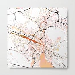 Zurich Switzerland Street Map Color Metal Print