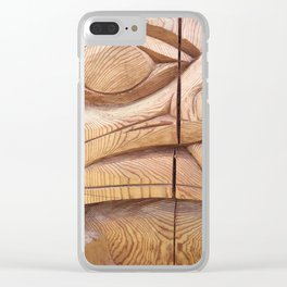 Totem Pole Clear iPhone Case