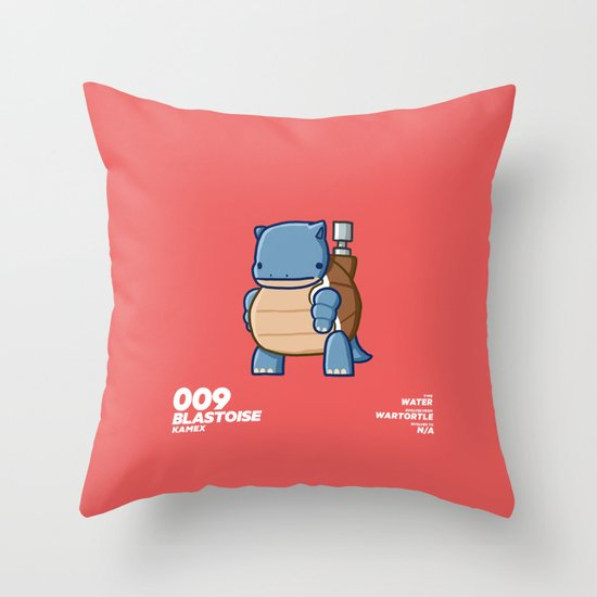 009 Blastoise Throw Pillow