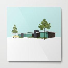 Mid Century House Metal Print