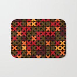 An abstract geometric pattern . Rustic . Bath Mat