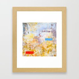 you could hear a bell ringing twice from the shore Framed Art Print