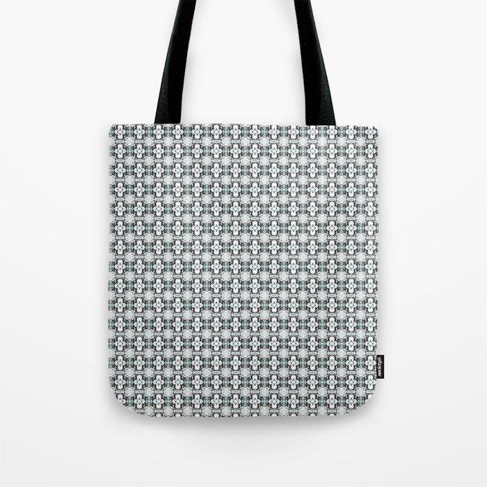 grey basket weave Tote Bag