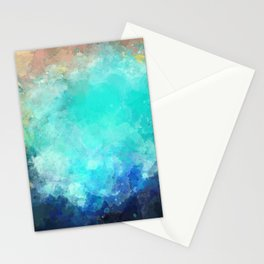 Watercolor Aerial View of Ocean Cove {Gold Coast} Stationery Cards