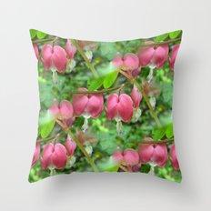 Bleeding Hearts - Dicentra Throw Pillow