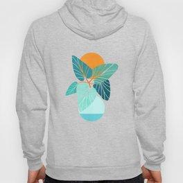 Tropical Symmetry / Retro Aqua Orange Palette Hoody