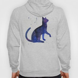 Galaxy Cat Watercolor Hoody