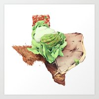 texas Art Prints featuring Texas by Kyle Fewell