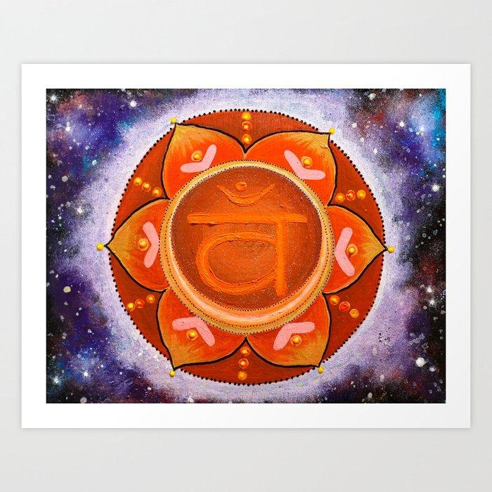 Sacral Chakra Mandala - I feel myself Art Print
