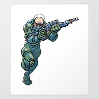 trooper Art Prints featuring Trooper by Scott Davidson