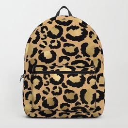 Animal print - natural gold Backpack