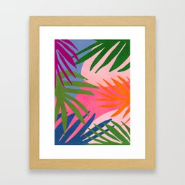 Nature Walk / Abstract Tropical Framed Art Print