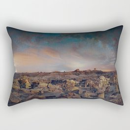 Exploring the Bisti Badlands of New Mexico Rectangular Pillow