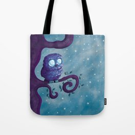Owl & the stars Tote Bag