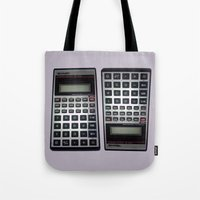 math Tote Bags featuring Fuck Math by Wis Marvin