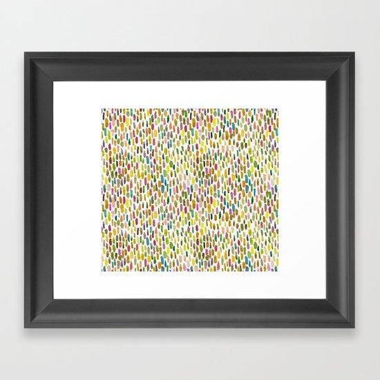 Brush stroke warm summer Framed Art Print