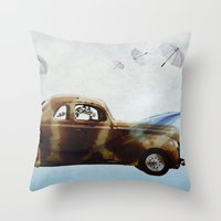 drive Throw Pillows featuring DRIVE by Jerzy Jachym
