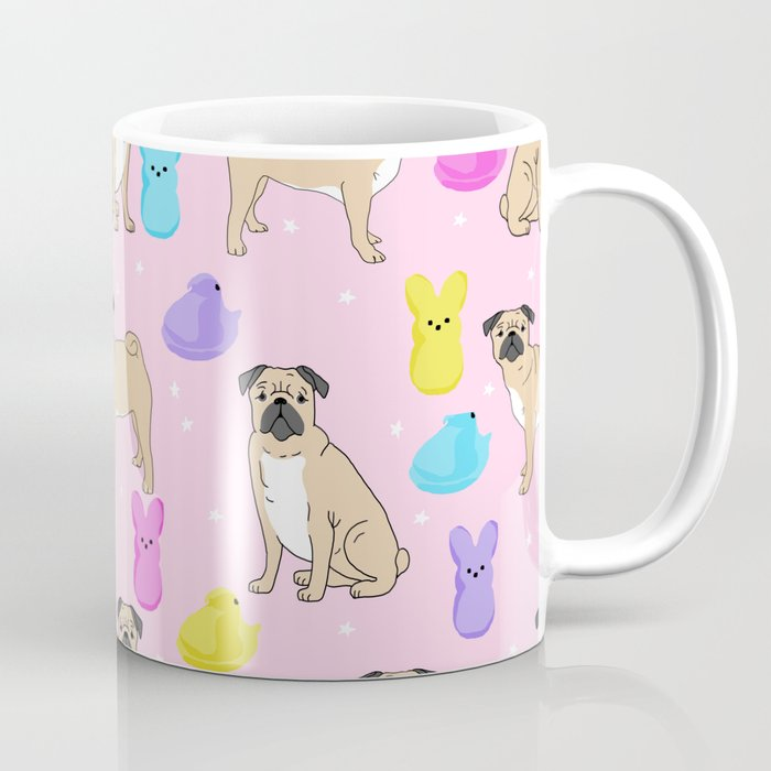 Pug dog breed peeps marshmallow easter spring dog pattern gifts Pugs Coffee Mug