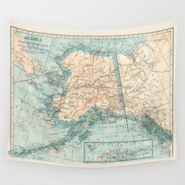 Vintage Alaska Wall Tapestry
