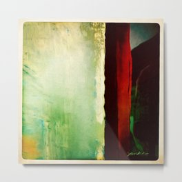 Abstract With A Red Stripe Metal Print