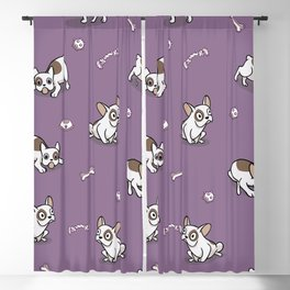 Sweet Frenchie Bulldog Puppies Pattern Blackout Curtain