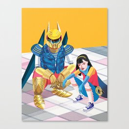 Asian Squatting Canvas Print