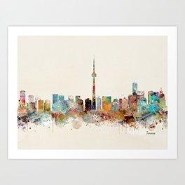 Toronto Ontario skyline Art Print