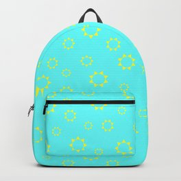 Sun Pattern - Cyan Backpack