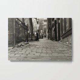 Brick and Cobblestone - Boston Streets Metal Print