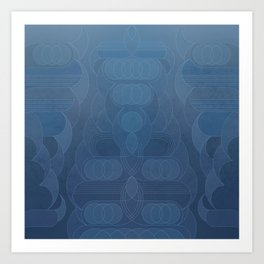 Round and About Blue Gray Art Print
