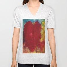Blood Red Love Unisex V-Neck