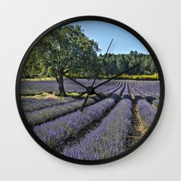 Lavender fields, Provence, France Wall Clock