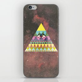 Pyramid in Space. iPhone Skin