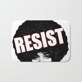 Angela Davis - Resist (black version) Bath Mat