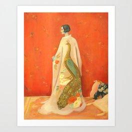 Peacock Kimono Art Print
