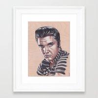 elvis presley Framed Art Prints featuring Elvis Presley by bdevennyart