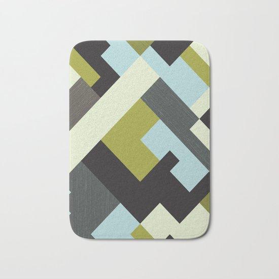 Rectangular geometric Bath Mat