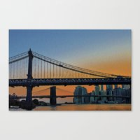 dumbo Canvas Prints featuring DUMBO   by Through the Eyes of my Lens