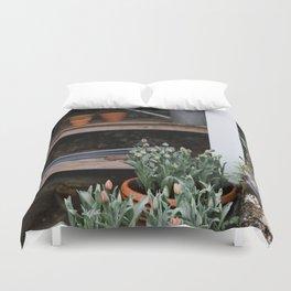 Spring Garden Shed Duvet Cover