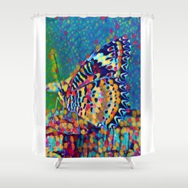 Butterfly Pizazz | Oil Painting  Shower Curtain