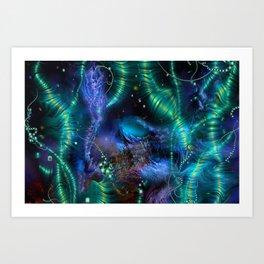 Cosmic Abstract Emerald Art Print