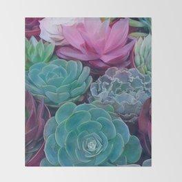 Succulents 2 Throw Blanket