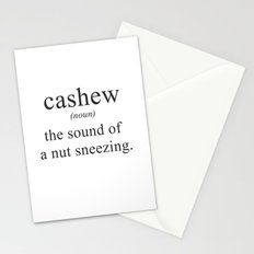 CASHEW - NUTS - DEFINITION - FUNNY Stationery Cards