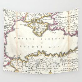 Vintage Map of The Black Sea (1747) Wall Tapestry