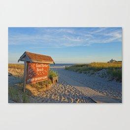 Good Harbor Sign at Sunset Gloucester MA Canvas Print