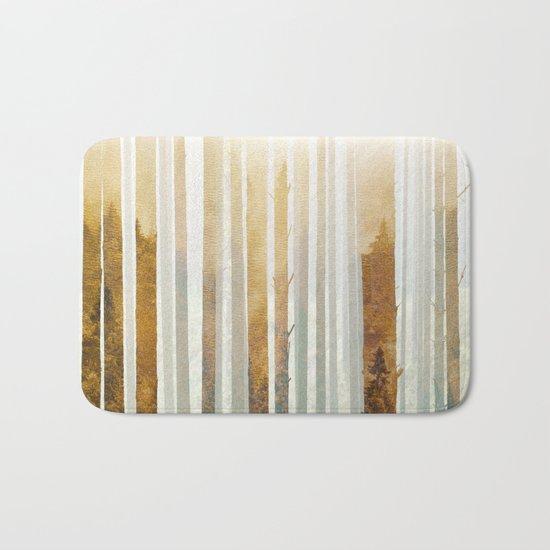 Golden Winter Forest 4 Bath Mat