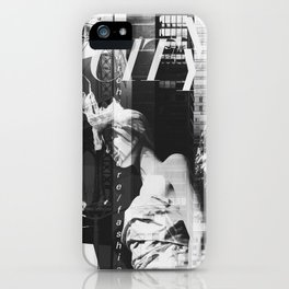 NYC Editorial Collage Black & White iPhone Case