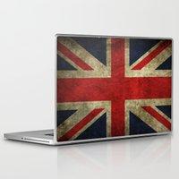 union jack Laptop & iPad Skins featuring Union Jack by Bethan Eastwood
