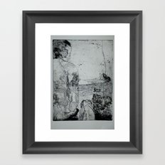 A Man and a Dog Framed Art Print