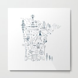 Minnesota Up North Collage Metal Print
